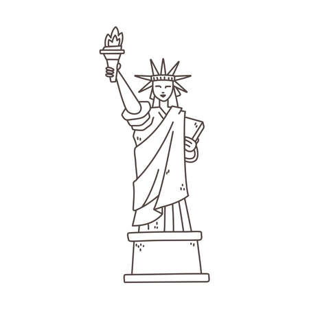 statue of liberty outline illustration