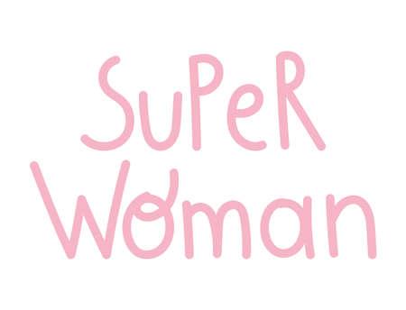 super woman handwriting Illustration