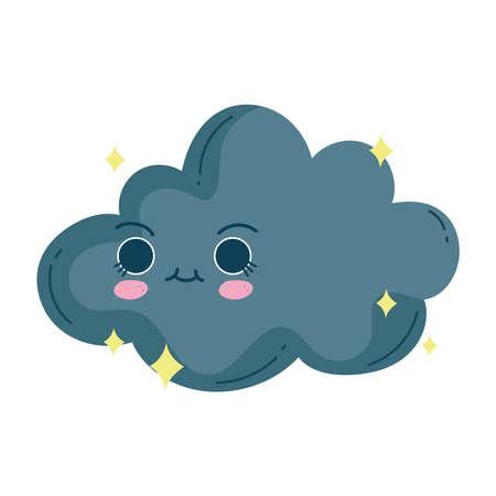 kawaii storm cloud cute cartoon
