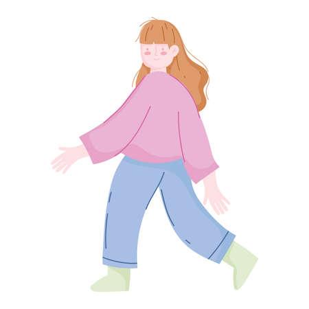 young girl cartoon