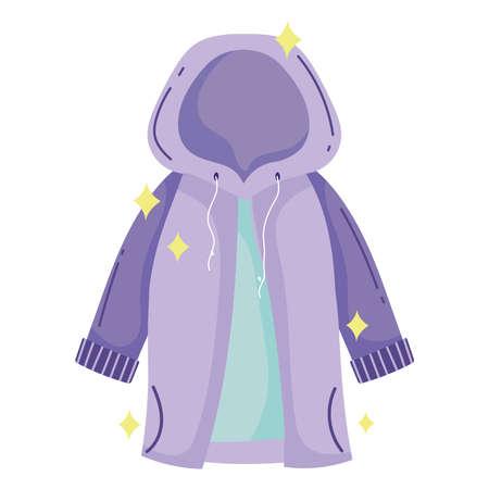 waterproof hooded jacket Illustration