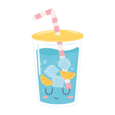plastic cup water Vektoros illusztráció