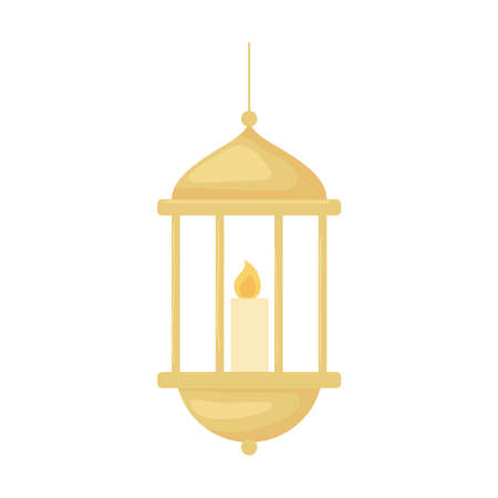 lantern and candle 矢量图像