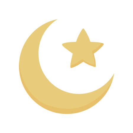 gold moon and star
