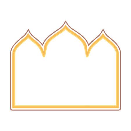 gold arabic frame 矢量图像