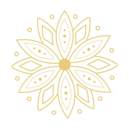mandala flower ornament 矢量图像