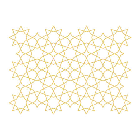 abstract star gold ornament 矢量图像