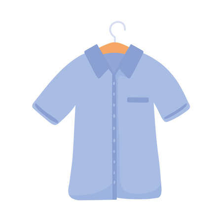 blue shirt hanging 矢量图像