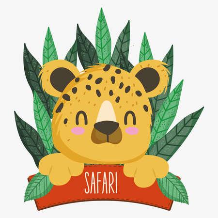tiger and safari board 矢量图像