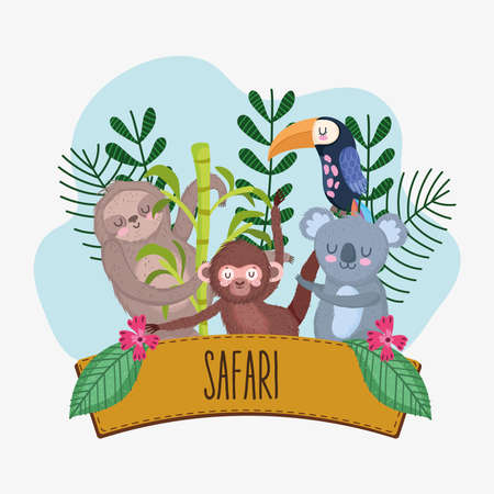 safari animals wood sign