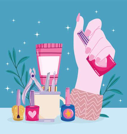 hand holds nail polish