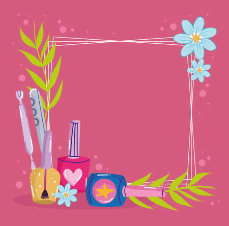 manicure accessories floral