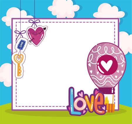 cute love romantic banner