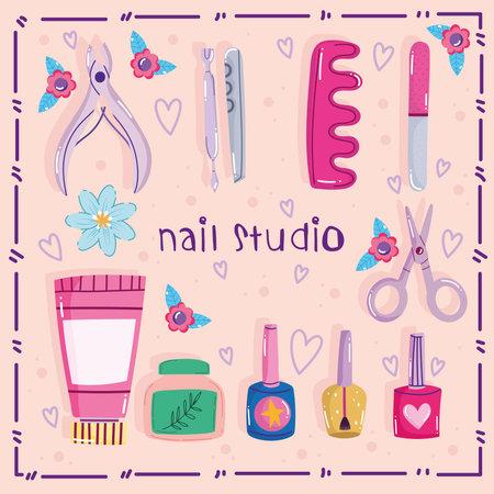 nail studio accessories