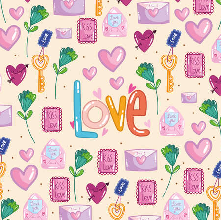 love and romantic pattern