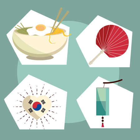 korean tradition and culture Illustration