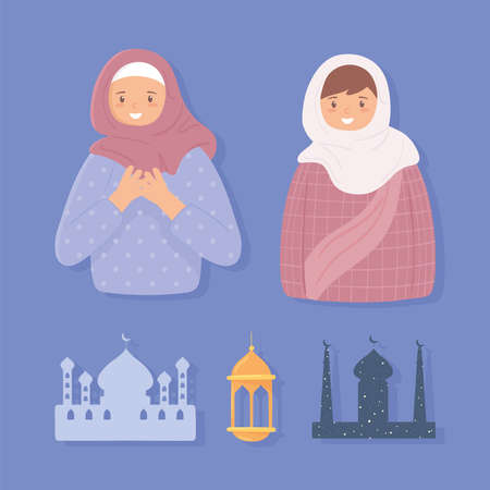 set muslim women and temple