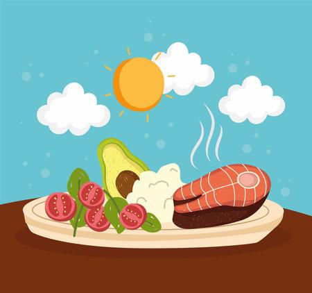 menu healthy food