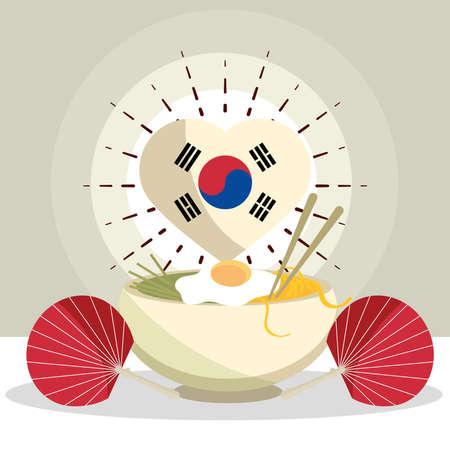 korean food and fan