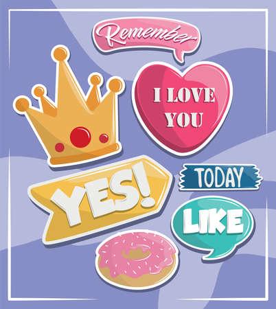 stickers decorative set
