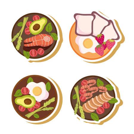 healthy food menu Illustration
