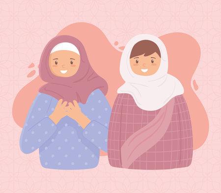 muslim women in traditional hijab