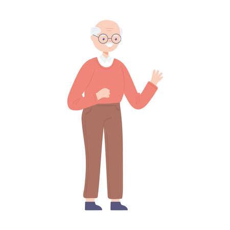 bald old man