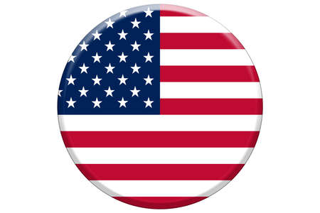 large circle american flag illustration graphic background campaign event button