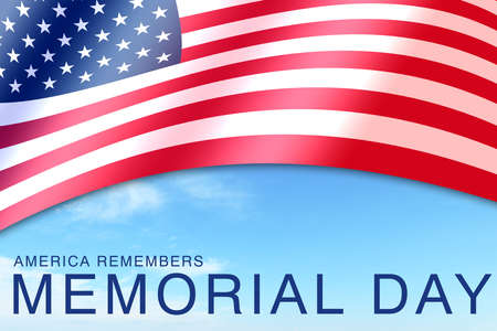 america remembers memorial red white blue flag day sign poster celebration card text and clouds
