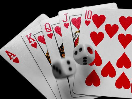 royal flush with dice Stock Photo - 2443621