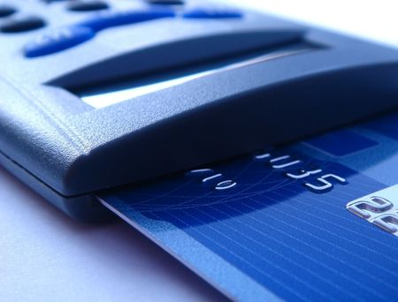 bankcard reader for electronic payment Stock Photo