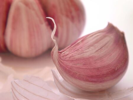 clove of clove: Garlic clove Stock Photo