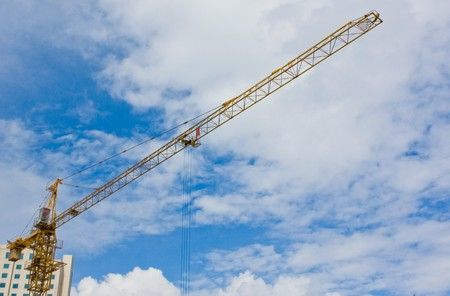construction crane with sky in background (3) photo