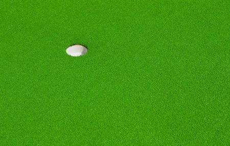 greens: hole on a minigolf course