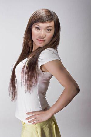 gorgeous slim asian beauty Stock Photo
