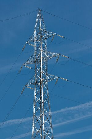 transformator: Electrical tower at power station (3)