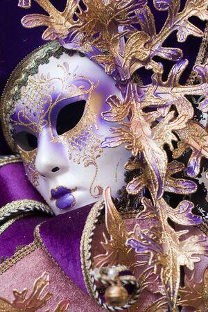 purple decorative venetian mask photo