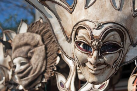 venecian: venetian carnival masks Stock Photo