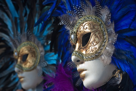 venecian: carnival masks in venice Stock Photo