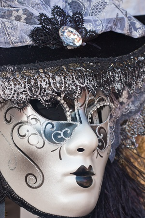 venecian: female decorative venice carnival mask Stock Photo