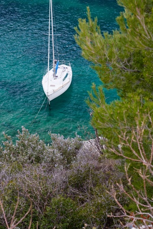 yacht boat in calanques photo