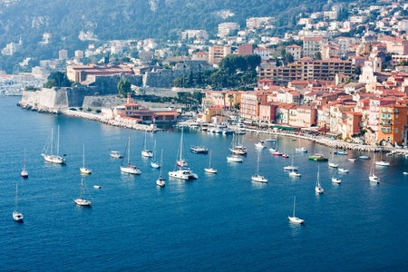 yacht boats in french riviera Stock Photo