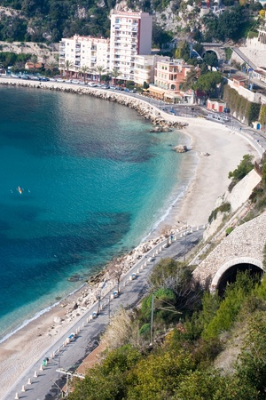 villefranche sur mer: french riviera coastline Stock Photo