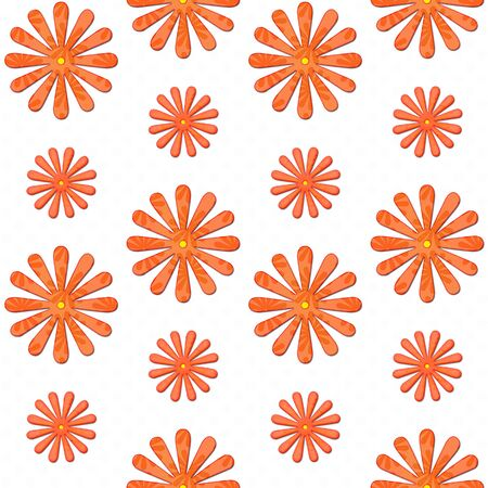 orange daisy seamless background photo