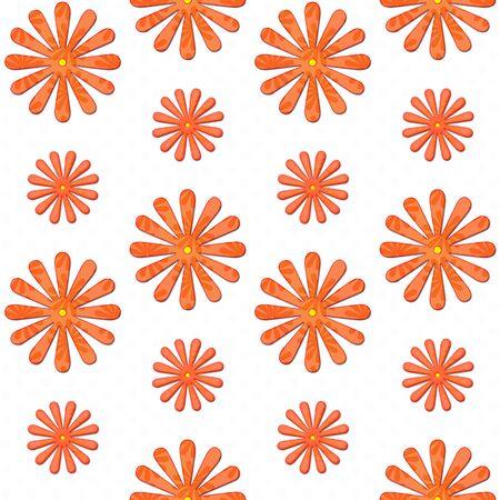 orange daisy seamless background Stock Photo - 9669319