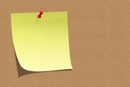 empty sticky note on board Stock Photo