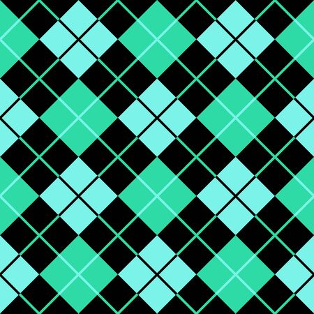 checked: argyle cyan green seamless background