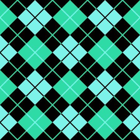 argyle cyan green seamless background