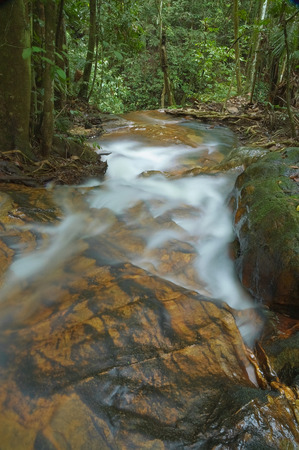 Smooth flowing stream Stock Photo