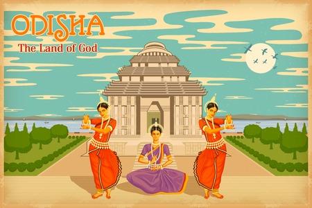 india culture: illustration depicting the culture of Odisha, India